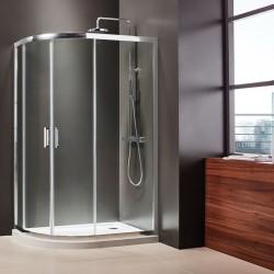 ΚΑΜΠΙΝΑ ΝΤΟΥΣΙΕΡΑΣ ΗΜΙΚΥΚΛΙΚΗ ΑΣΥΜΜΕΤΡΗ 70x90 & 120x80 AXIS  σε κρυσταλλο διαφανο CLEAN GLASS