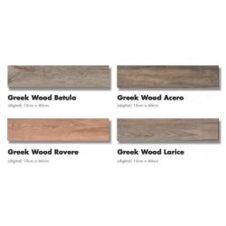 ΠΛΑΚΑΚΙ 15x60 ΔΑΠΕΔΟΥ τυπου ξυλο GREEKWOOD  σε 4 αποχρωσεις rovere/larice/acero/betula