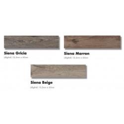 ΠΛΑΚΑΚΙ 15x60 ΔΑΠΕΔΟΥ τυπου ξυλο SIENA beige / marron / gris