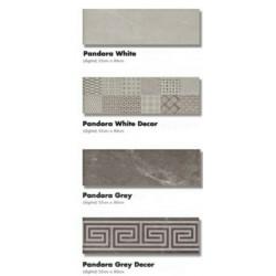 ΠΛΑΚΑΚΙ 25Χ80 ΜΠΑΝΙΟΥ  PANDORA WHITE/GREY/DECOR