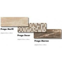 ΠΛΑΚΑΚΙ 20x60  ΚΟΥΖΙΝΑΣ-ΜΠΑΝΙΟΥ PRAGA MARFIL/MARRON/DECOR