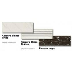 ΠΛΑΚΑΚΙ 20x60 ΜΠΑΝΙΟΥ-ΚΟΥΖΙΝΑΣ  Carrara Blanco Brillo / Negro