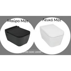 ΛΕΚΑΝΗ 52CM  ΚΡΕΜΑΣΤΗ RITA BLACK MATT/WHITE MATT
