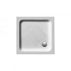 Nτουσιέρα 70 x 70 x 10 τετραγωνη  πορσελανη BASIC    G.S.I.   ITALY