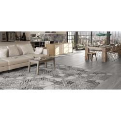 ΠΛΑΚΑΚΙ 45x45 ΔΑΠΕΔΟΥ (patchwork)  MOMENTS gris
